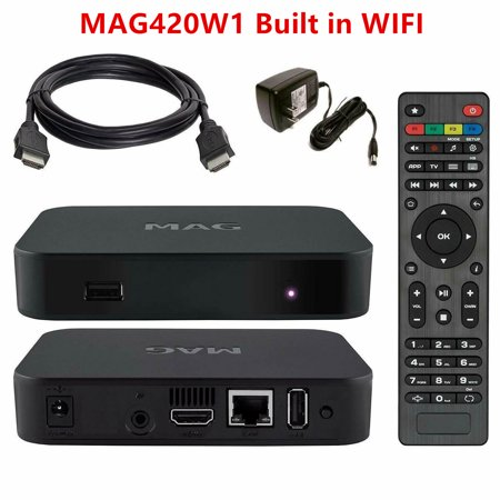 NEW 2020 Model MAG420W1 by INFOMIR MAG 420 W1 IPTV Set-Top-Box Built in wifi+HDMI Free LIXSUNTEK® Cable - image 1 of 1