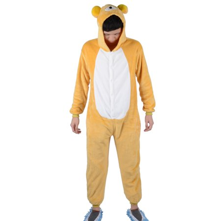 Simplicity Adult Unisex Animal Sleepsuit Kigurumi Cosplay Costume Pajamas, M