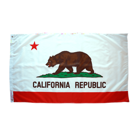 Nylon California State Flag - 3x5 Foot California Flag Double Stitched California State Flag with Brass Grommets | 3 by 5 Foot Premium Indoor Outdoor Polyester Banner Flag