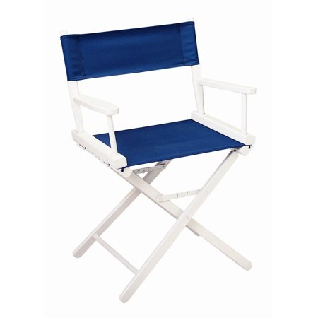 Outstanding 18 In Directors Chair W White Frame Navy Blue Canvas Ncnpc Chair Design For Home Ncnpcorg