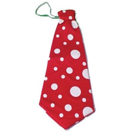 Huge Jumbo Giant Red Polka Dot Funny Clown Costume Accessory Tie for $<!---->
