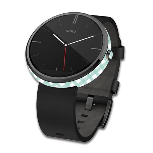 Skin Decal Wrap for Motorola Moto 360 Smart Watch cover Aqua Picnic