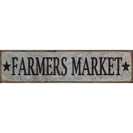 Barnyard Designs Farmers Market Retro Vintage Tin Bar Sign Country Home Decor 15 75  X 4
