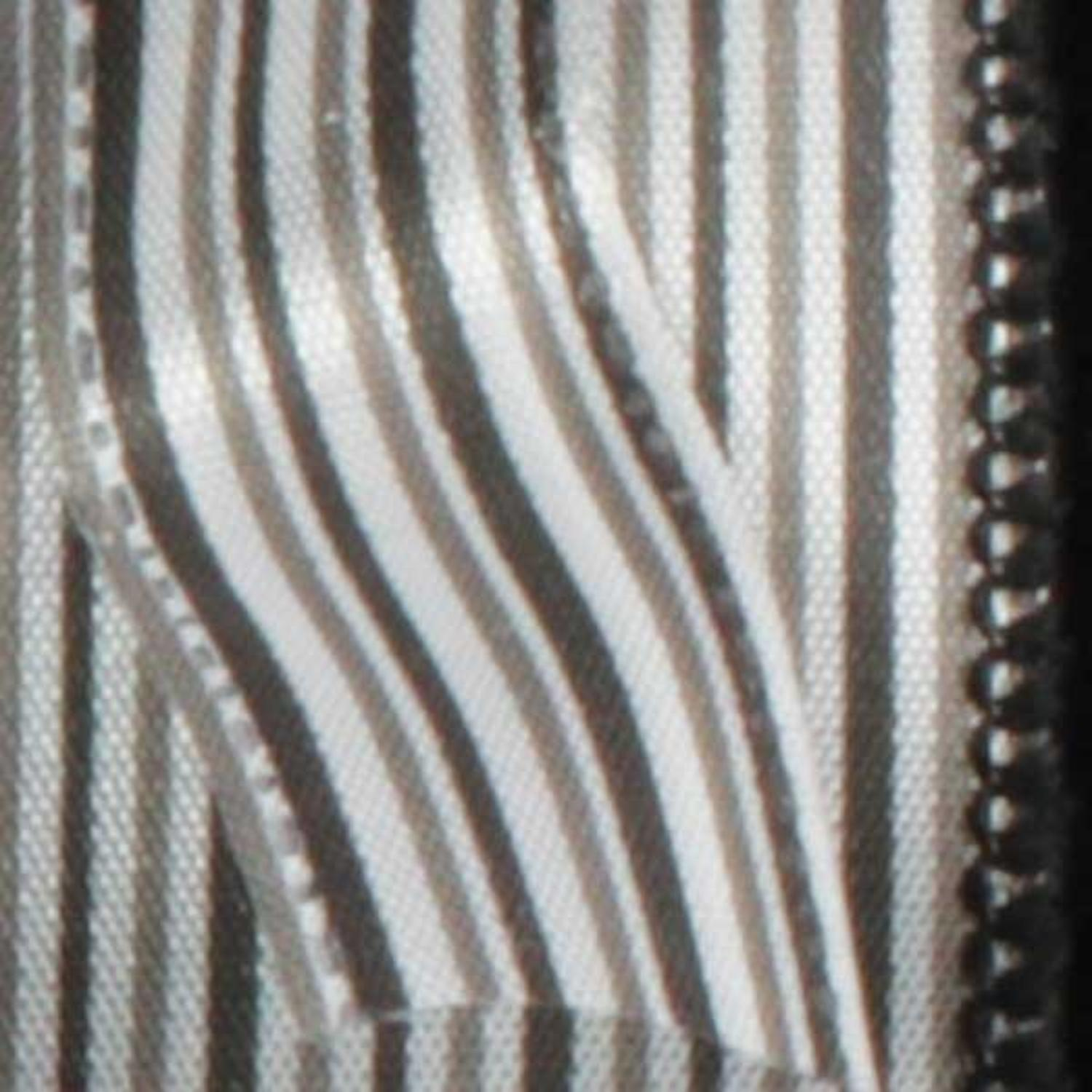 "Ribs of Black and White Thin Striped Wired Craft Ribbon 5/8"" x 60 Yards"