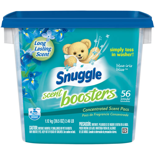Snuggle Scent Boosters Blue Iris Bliss Concentrated Scent Pacs, 56 count, 39.5 oz