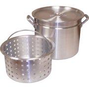 King Kooker KK100R Heavy Duty Aluminum Rimmed Boiling Pot w/ Basket, 100-Quart