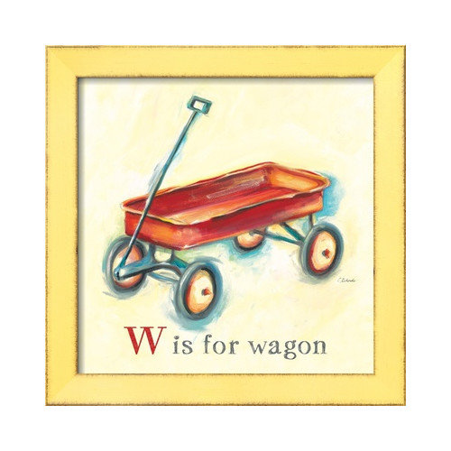 Wildon Home  'W is for Wagon' by Catherine Richards Framed Painting Print
