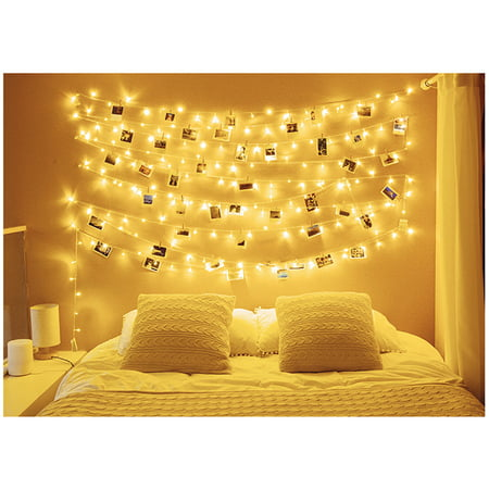 Romantic 19.7ft String Light 40 Heads Round Ball Waterproof String Night LED String Light Outdoor Indoor Decor Light for Home Bedroom Dorm Patio Christmas Halloween Birthday Party Decor (Halloween Decor Ideas Outdoor)