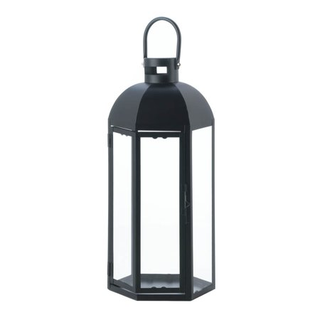 Candle Lantern Black, Large Decorative Lanterns For Candles Outdoor Decor - Large Black Lanterns