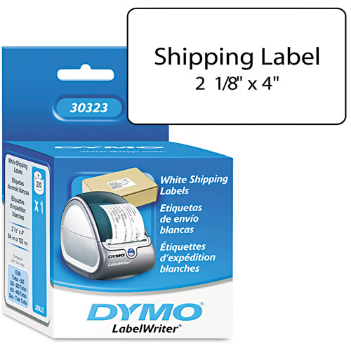 Dymo 30323 LabelWriter Shipping Labels, 2 1/8 x 4, White, 220 Labels