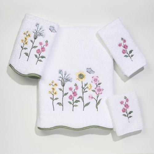 Avanti Linens Premier Country Floral 4 Piece Towel Set