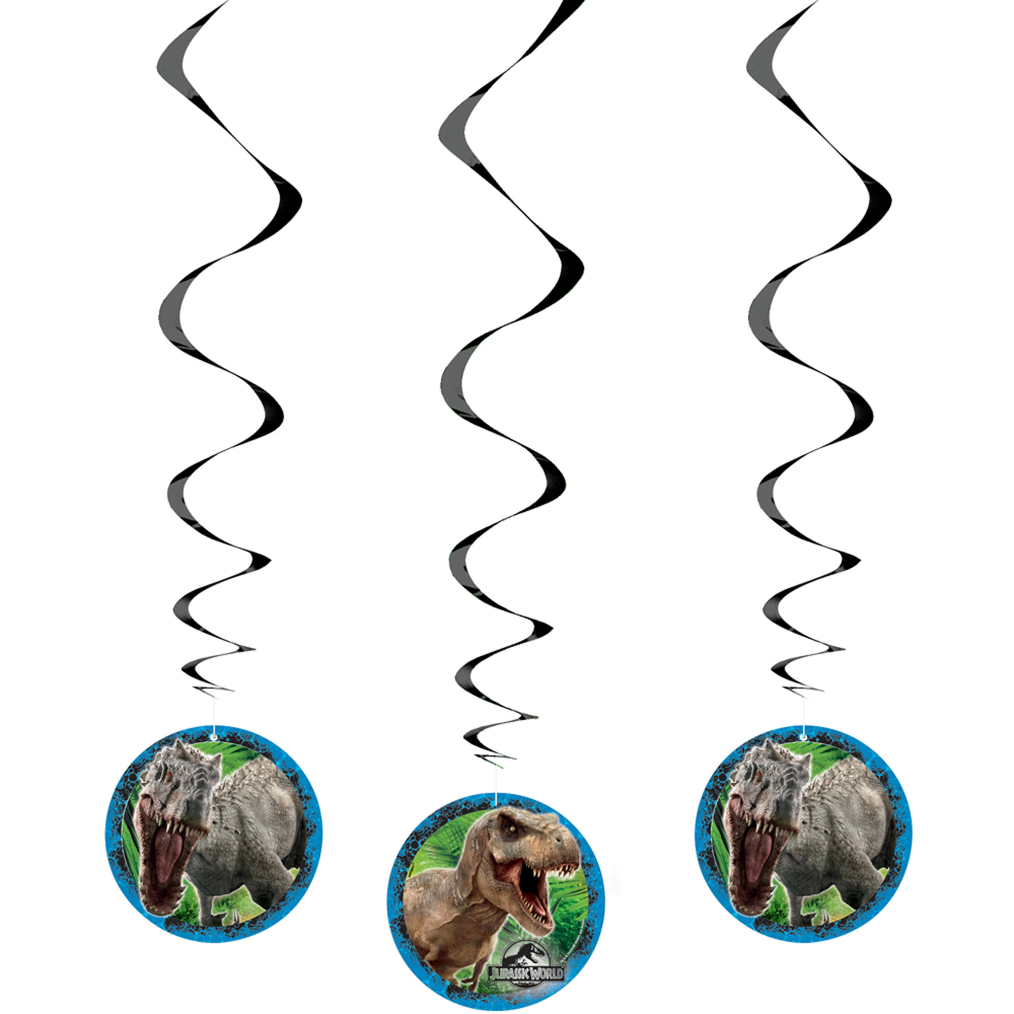 "26"" Hanging Jurassic World Decorations, 3ct"