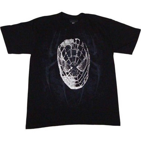 Spider-Man 3 Movie City Head Men's T-Shirt, Black, Large](Spiderman Shirts)