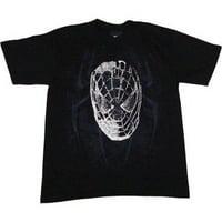 Spider-Man 3 Movie City Head Men's T-Shirt, Black, Large