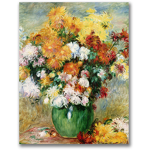 "Trademark Fine Art ""Bouquet Of Chrysanthumums"" Canvas Wall Art by Pierre Renoir"
