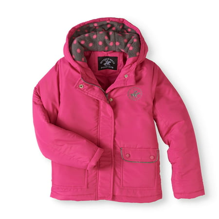 (Logo Fashion Coat with Polar Fleece Lined Hood (Little Girls & Big Girls))