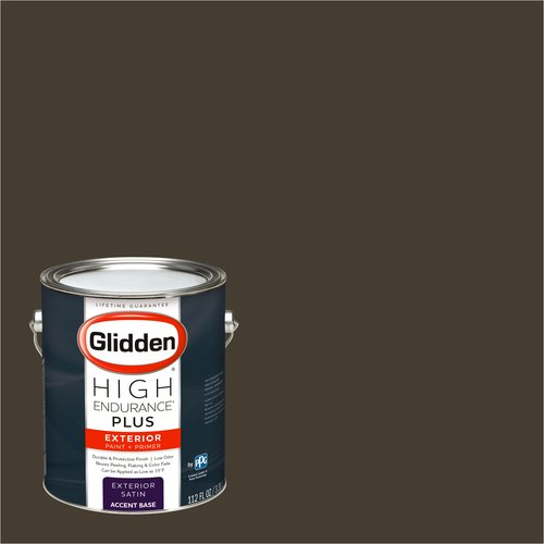 Glidden High Endurance Plus Exterior Paint and Primer, Earth Brown, #00YY 07/093