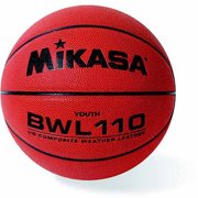 """Mikasa BWL110 Leather Cover Junior Composite Competition Basketball Ball, 27.5"""""""