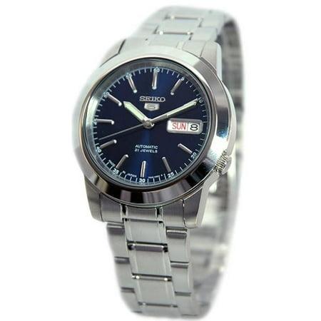d52dc32d0 Seiko - 5 Automatic SNKE51J1 Blue Dial Stainless Steel Men's Watch -  Walmart.com