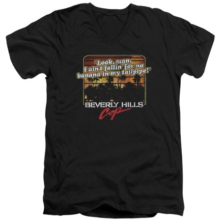 Beverly Hills Cop Banana In My Tailpipe Mens V Neck Shirt