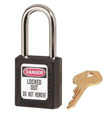 "Zenex Lockout Padlock,KD,Black,1-3/4""H MASTER LOCK 410BLK"