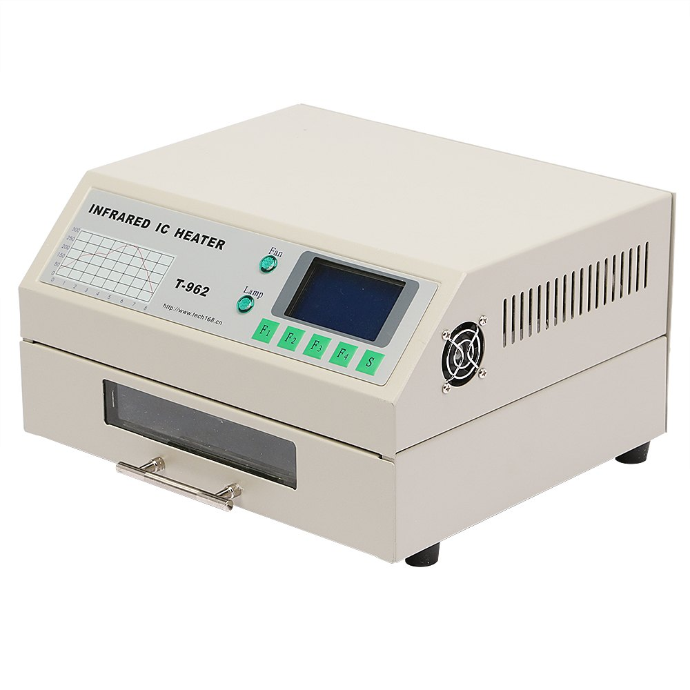 BestEquip T962 Reflow Oven Infrared IC Heater Soldering Machine 800W 180 x 235 mm SMD SMT BGA Soldering Automatic