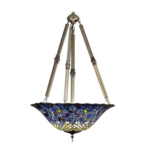 "Meyda Tiffany 26549 4 Light 24"" Wide Pendant with Handmade Shade by Meyda Tiffany"