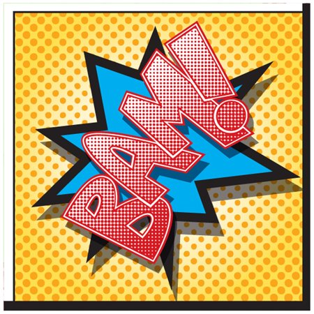 Superhero Comics Party Supplies 60 Pack Lunch Napkins (Super Hero Squad Party Supplies)