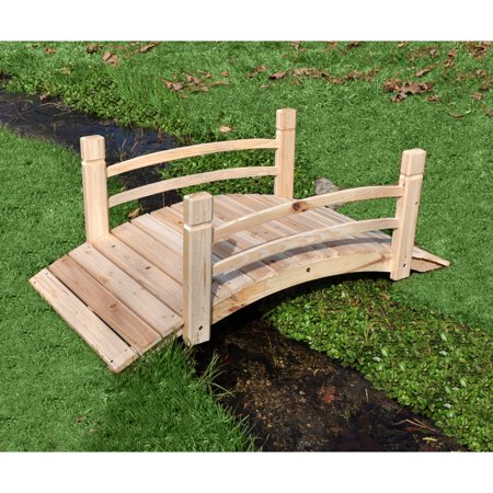 (Shine Company 4 Ft. Cedar Garden Bridge - Natural)