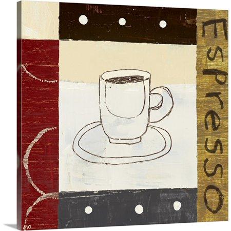 Great BIG Canvas | Michael Mullan Solid-Faced Canvas Print entitled Urban Coffee II Bag Canvas Coffee