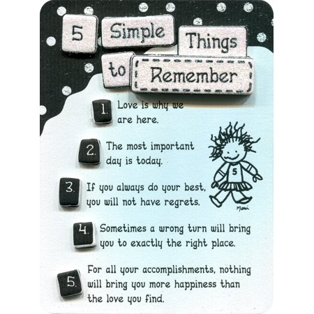 Five Simple Things to Remember by Marci Miniature Easel-Back Print with Magnet (MIN452), Blue Mountain Arts Miniature Easel-back Print with Magnet.., By Blue Mountain Arts Blue Mountain Arts