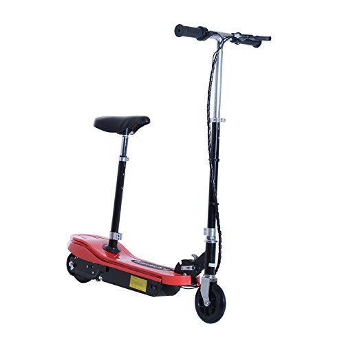 Aosom 120W Kids Folding Electric Scooter with Seat and LE...