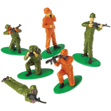 Military Soldiers People Miniatures Set Diorama Recreation 12 Pack Toys - March Of The Toy Soldiers