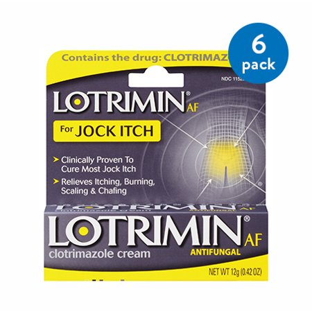 (6 Pack) Lotrimin AF Jock Itch Antifungal Treatment Cream, 0.42 Ounce