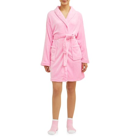 Mayfair Women's 2-Piece Spa Robe and Socks Set