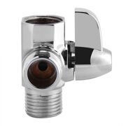 Tbest 3-Way Brass Chrome Diverter G1/2  T Shape Adapter Valve for Shower Arm Mounted, Shower Arm Diverter,Diverter