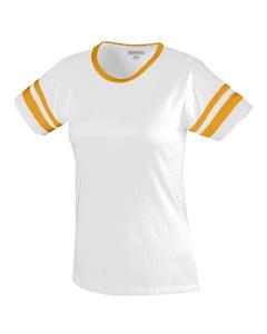 Augusta Ladies Junior Fit Cotton/Spandex Camp Tee 1275