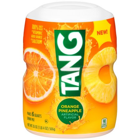 (12 Pack) Tang Orange Pineapple Powdered Soft Drink, 20 oz Canister