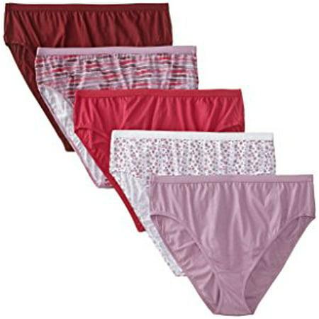 bf669e34846 Just My Size - Women s 5 Pack Cotton Hi Cut Assorted Panty - Walmart.com