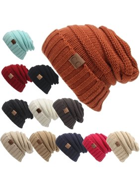38e31e7580c9a8 Product Image Women's NEW Fashion 2106 Casual Warm Hats Winter Knit Cap CC  Label Wool Cap Sleeve Head