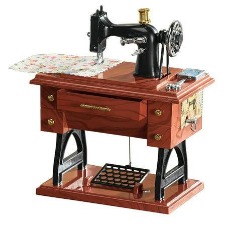 Vintage Sewing Machine Music Box Charm Music Box