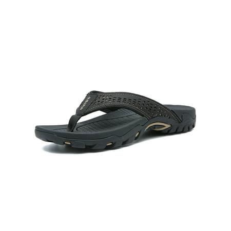 120de5ff00224 Mens Thong Sandals Indoor and Outdoor Beach Flip Flop Lightweight Shoes