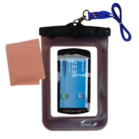 Gomadic Clean and Dry Waterproof Protective Case Suitablefor the Sony Ericsson PlayStation Phone to use Underwater
