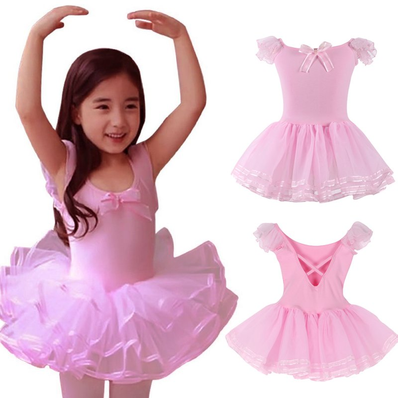 Child Girls Gymnastics Leotard Ballet Dance Dress Tops  Ballerina Costume 2-12Y