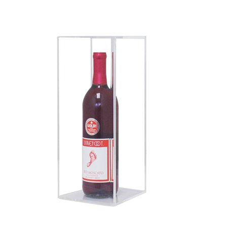 Deluxe Clear Acrylic Wine Bottle Display Case (A017-CB)