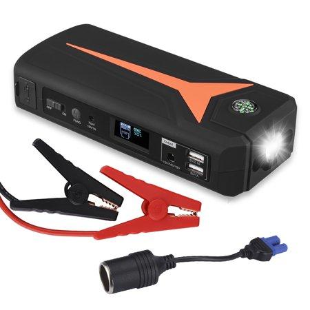 Floureon 500a 16800mah Portable Car Jump Starter Auto Battery Booster Pack External Phone