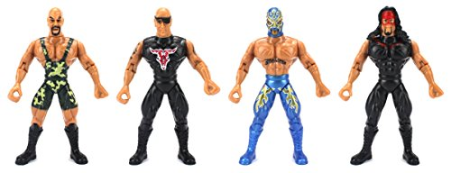 Supreme Wrestlers Children Kid's Wrestling Toy Action Figure Playset w  4 Toy Figures by Velocity Toys