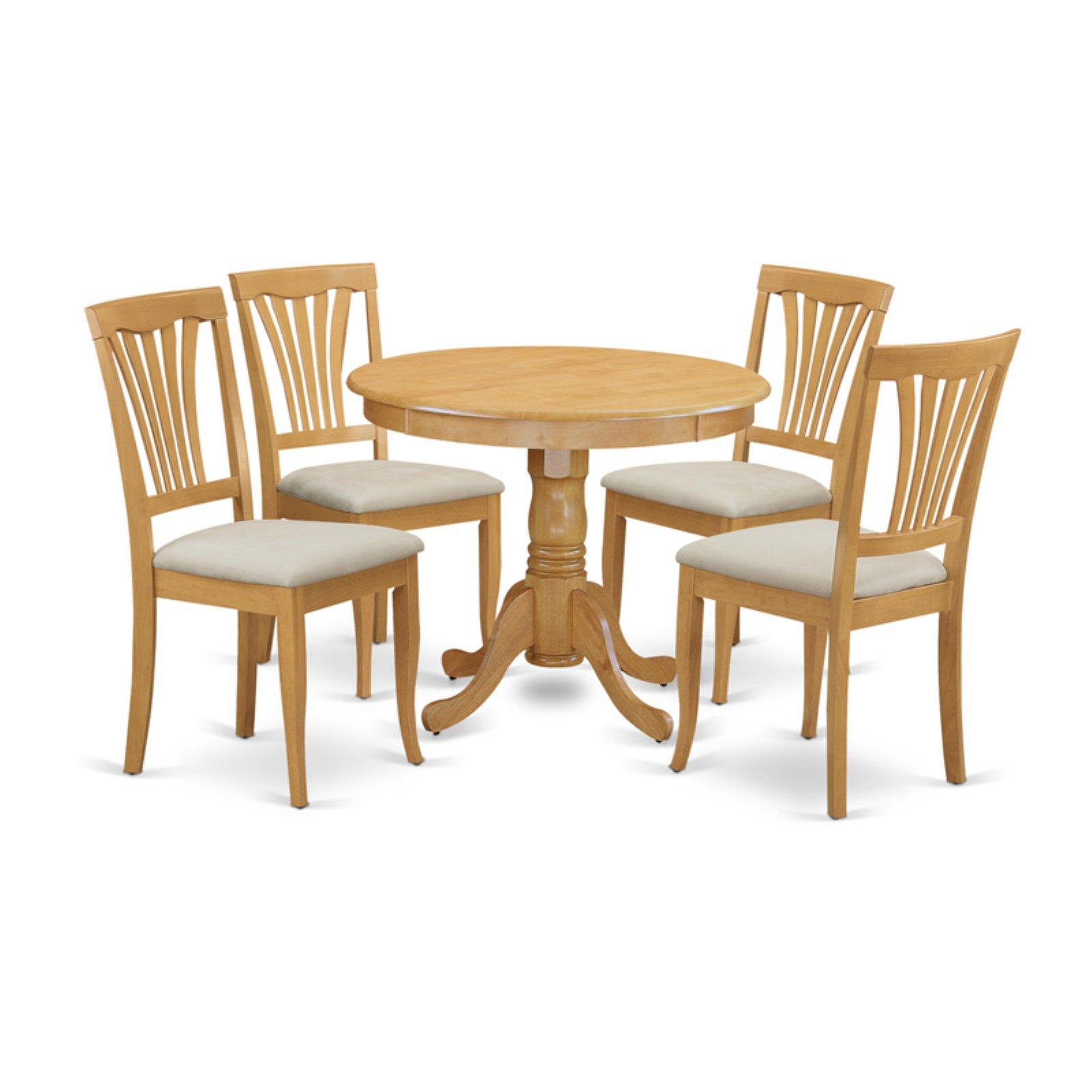 East West Furniture 5 Piece Lath Back Kitchen Dinette Dining Table Set