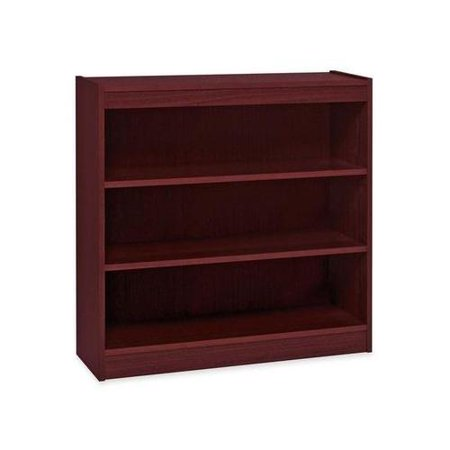 Hardwood Veneer Furniture Collection - Lorell Panel End Hardwood Veneer Bookcase LLR60071