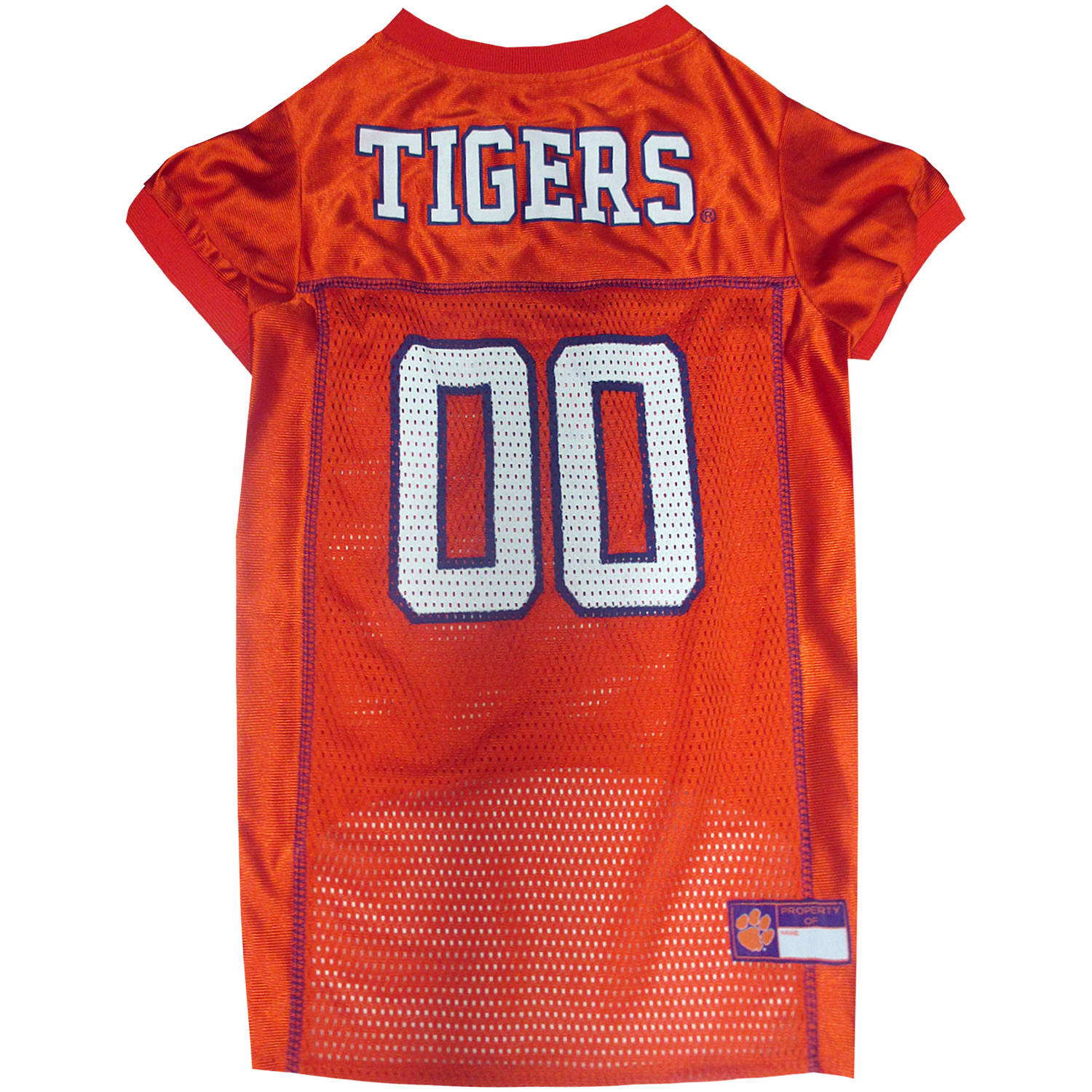 Pets First College Clemson Tigers Collegiate Dog Jersey, Available in Various Sizes